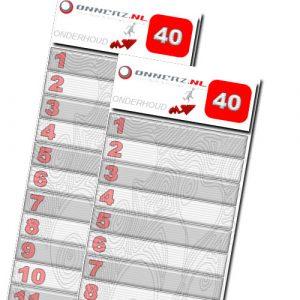 40 strippen onnerz